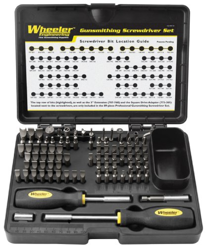 Wheeler 89-Piece Deluxe Gunsmithing Screwdriver Set, Black/Yellow (Gunsmith Tool Set compare prices)