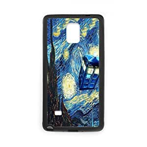Unique Printing Skin Shell Doctor Who Pattern Phone Case for SamSung Galaxy Note4,TPU+PC Material Diy Cover Case s6-linda57 hjbrhga1544