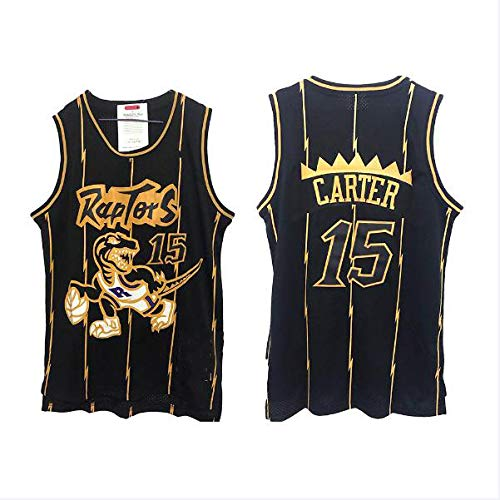 LLZYL NBA 1# 15# Raptors Retro Jersey Maddy Carter All-Star Jersey, Cool Breathable Fabric Classic Sleeveless, Men's and Unisex Basketball Shorts T-Shirt Jersey,Carter,XXL:190cm/95~110KG