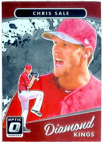 Pitcher Optic - Chris Sale baseball card (Boston Red Sox Pitcher) 2017 Donruss Optic Chrome #4 Diamond Kings