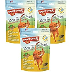 (Pack of 3) Smart n' Tasty Grain-Free Turducky All Natural Feline Dental Treats