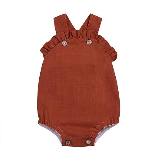 77b4f876e43bc Newborn Baby Girls' Full Flower Pig Print Sleeveless Bodysuit Romper  Jumpsuit Outfit (red,