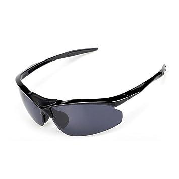 JING Hombres y Mujeres Gafas de Sol Anti-UV Bicicleta de Montar Gafas de Deporte