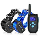 good dog bad dog leash - Training Collars for 2 Dogs, Nemobub Waterproof and Rechargeable 1000ft Remote Dog Shock Collar with Beep/Vibration/Shock Electric Collars for Small, Medium, Large Dogs