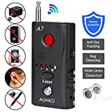 Spy Camera Detector and Wireless Bug Detector, Auhko A7 Anti-spy Camera Bug RF Signal Detector Wireless Hidden Camera GPS Tracker Higher Sensitivity Multi-Functional GSM Device Finder