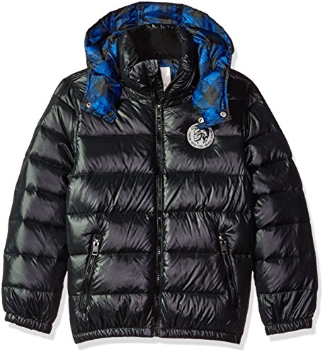 Diesel Boys' Down Bubble Jacket with Detachable Hood