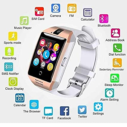 YIGEYI Watch Watch Q18 Arc Display Clock Support Camera TF Card Watchs Connection for Android Smartphone