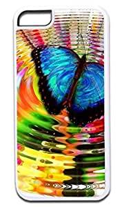 Butterfly Ripple- Case for the APPLE IPHONE 6 PLUS ONLY!!! (Not Compatible with the Regular Iphone 6!!) -Hard White Plastic Outer Case with Inner Tough Black Rubber Lining