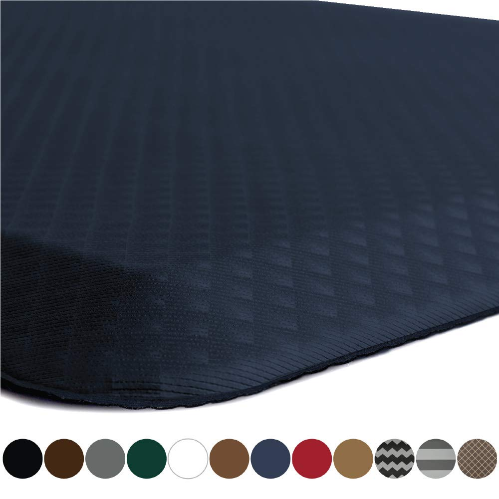 "Kangaroo Brands Original 3/4"" Anti-Fatigue Comfort Standing Mat Kitchen Rug, Phthalate Free, Non-Toxic, Waterproof, Ergonomically Engineered Floor Pad, Rugs for Office Stand Up Desk, 39x20 (Navy)"