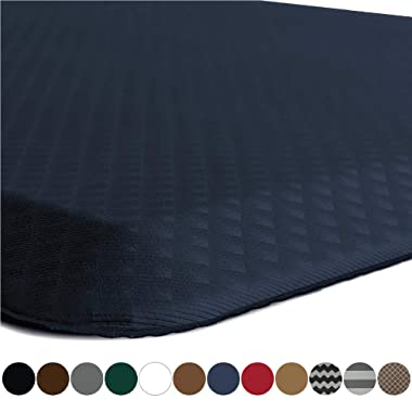 Kangaroo Brands Original 3/4  Anti-Fatigue Comfort Standing Mat Kitchen Rug, Phthalate Free, Non-Toxic, Waterproof, Ergonomically Engineered Floor Pad, Rugs for Office Stand Up Desk, 39x20 (Navy)