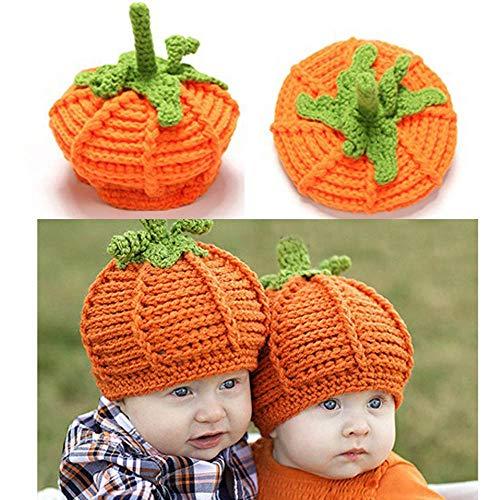 SHJNHAN Baby Hat, Newborn Baby Cute Pumpkin Cap