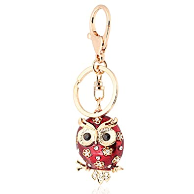 55aef8c05c2 Handbag Buckle Charms Accessories Shiny Brown or Red Owl Keyrings Key  Chains HK35 (Random colour shipped)