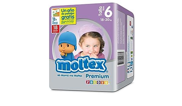 bf43d9472d95 Moltex Premium Bolsa de Pañales Desechables - 18 Pañales: Amazon.es: Salud  y Comprar Más info
