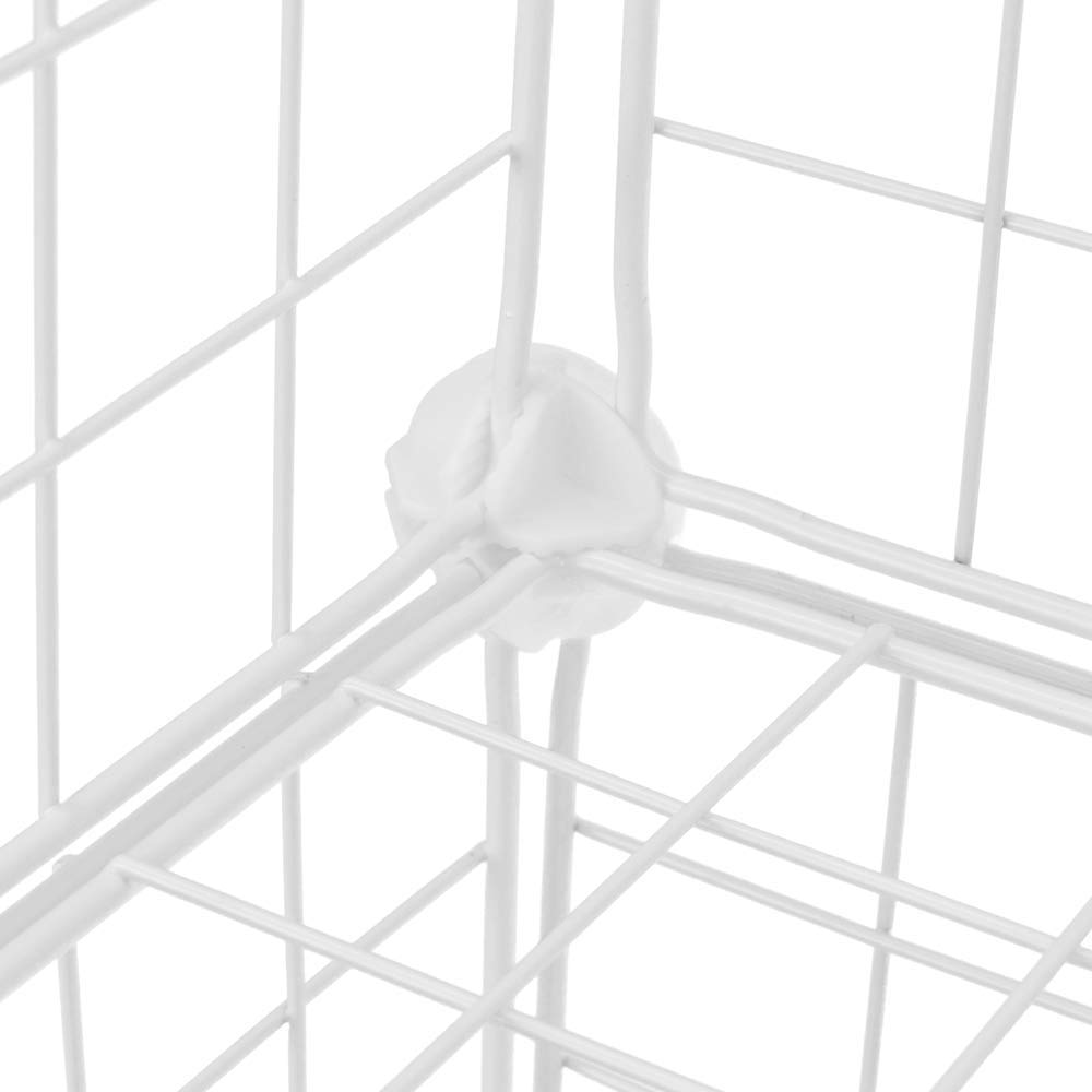 PrimeMatik Armario Organizador Modular Estanter/ías de 12 Cubos de 35x35cm Metal Blanco