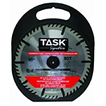 Task Tools T24705 10-Inch Task Signature Saw Blade with Combination 5/8-Inch Arbor