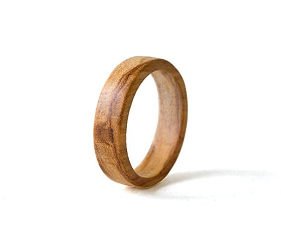 olive wood ring olive wood band men ring women wedding band olive - Wood Wedding Ring
