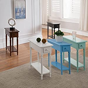 Leick Coastal Narrow Hall Table with Shelf