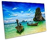 Canvas Geeks - Thailand Beach Krabi - 75cm wide x 50cm high SINGLE CANVAS WALL ART Picture Print