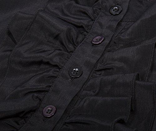 Chemisier Shirt Noir Longue Blouse Kate Femme Victorien Chemise Kasin FR721 Manche Retro reg; 7vvpqwtfx