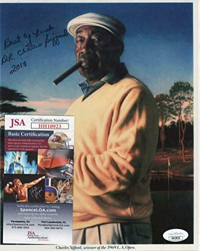 Charlie Sifford Autographed Signed 1st African American In Pga 8x10 Photo JSA Hh10923