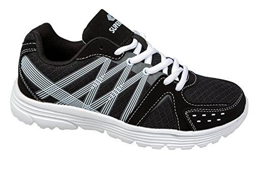 gibra - Zapatillas de textil/sintético para mujer negro/blanco