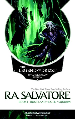 Book cover from The Legend of Drizzt 25th Anniversary Edition, Book I by R. A. Salvatore