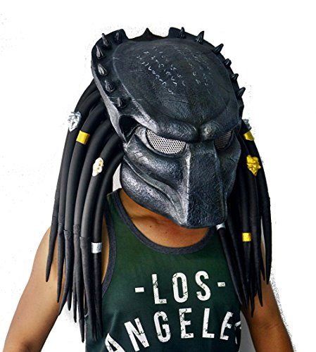 Predator Mask With Dreads - Hotmodeltoy 1:1 Predator Replica Mask Latex