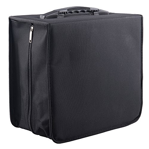 - Fasmov Polyester 400 Disc CD/DVD Binder DVD Wallet Case, Black