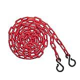 US Weight ChainBoss 2-Inch Plastic Chain – 10 Feet – Red