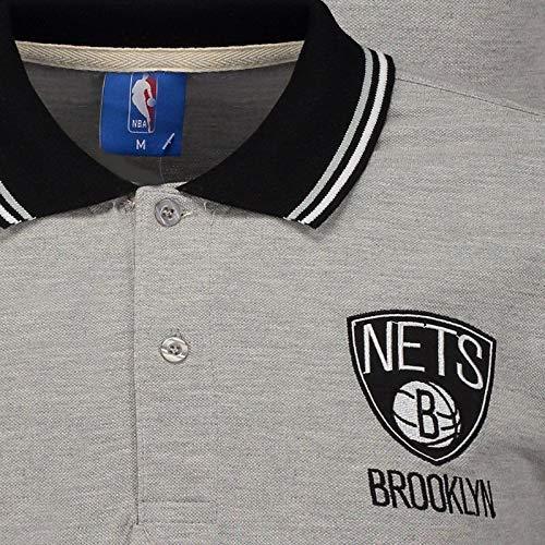 Polo NBA Piquet Brooklyn Nets Cinza  Amazon.com.br  Esportes e Aventura 5741c8f0e571c