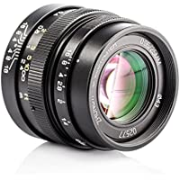 Zhongyi Mitakon Speedmaster 25mm F0.95 Large Aperture Prime Fixed Lens with TARION Storage Bag for MFT M43 M4/3 Mount Mirrorless Cameras Olympus Panasonic GH4 GF8 Black