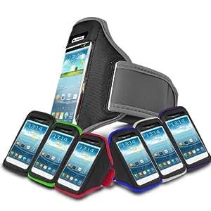 Grey Sports Jogging Armband Case Cover Comfortable Holder Soft Gym Adjustable Running For ALCATEL OT-918 (S) Mobile Cellular Phone