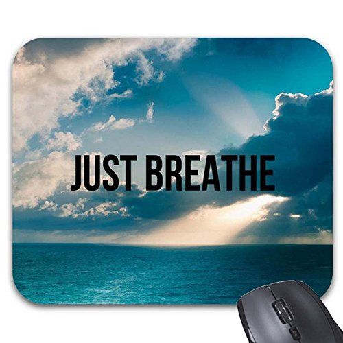 Price comparison product image Goldaisy Mousepad Just Breathe, Yoga, Zen Quote Mouse Mat