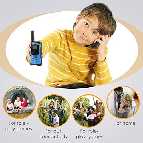 UOKOO walkie talkies for Kids, 22 Channel 2 Way Radio 3 Mile Long Range Kids Toys & Handheld Kids Walkie Talkies, Best Gifts & Top Toys for Boy & Girls Age 3 4 5 6 7 8 9 for Outdoor Adventure Game