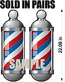 Barber Pole WALL DECAL Graphic Vinyl Men Childrens Removable Reusable Kids Room Man Cave Garage Den Art Sticker Decor