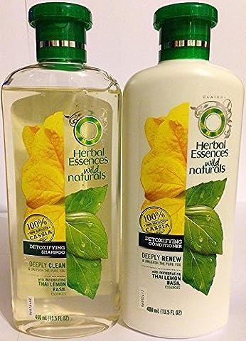 Herbal Essences Wild Naturals - Detoxifying Shampoo & Conditioner Set - Net Wt. 13.5 FL OZ (400 mL) Per Bottle - One (Beauty Renew Illuminating)