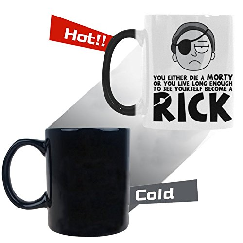 You Either Die A Morty Or You Live Long Enough To See Yourself Become A Rick Morphing Coffee Tea Mug Cup 11 Ounces Fun Mugs Funny - Class Long International Shipping How Is First