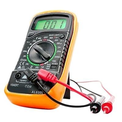 XGXDI EXCEL Digital Multimeter XL830L Volt Meter Ammeter Ohmmeter Tester Yellow