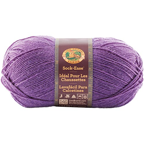 Lion Brand Yarn 240-138E Sock-Ease Yarn, Grape (Nylon Fingering Weight)