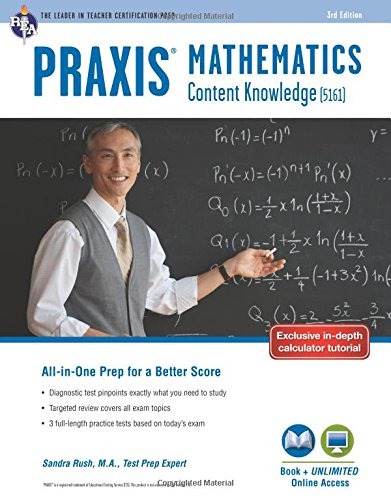 Praxis Mathematics: Content Knowledge (5161) Book + Online (PRAXIS Teacher Certification Test Prep)