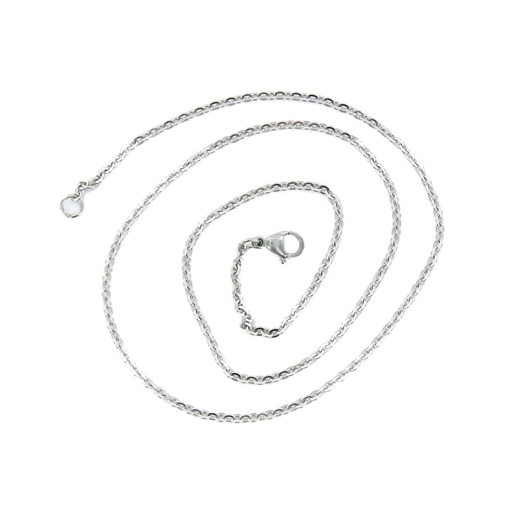 """20/"""" Edelstahl Kette Halskette DIY Fertigkeit mit Karabiner Silber"""