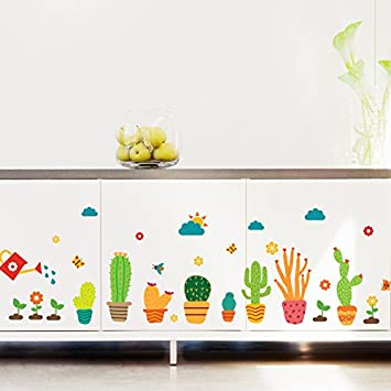 Kuamai Cactus Bonsai Art Wall Sticker Dekorative Sticker Home
