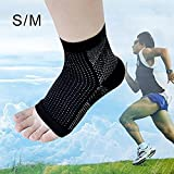 Icarekit Breathable Comfortable Foot Compression Sleeve Anti Varicose Veins and Fatigue Angel Circulation Ankle Swelling Relief Keep Warm Protector