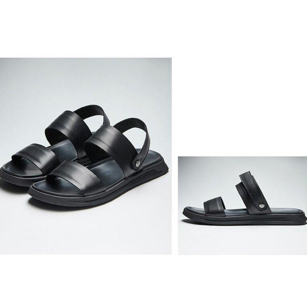 YXLONG Männliche Sandalen Sommer Neue Herren Erste Schicht Leder Casual Herren Neue Sandalen Mode Sandalen und Hausschuhe Weiß a5e443