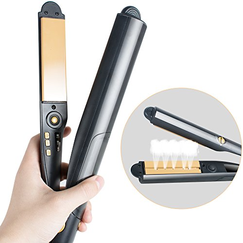 Professional Steam Hair Straightener, ixaer Iron Argan Oil V