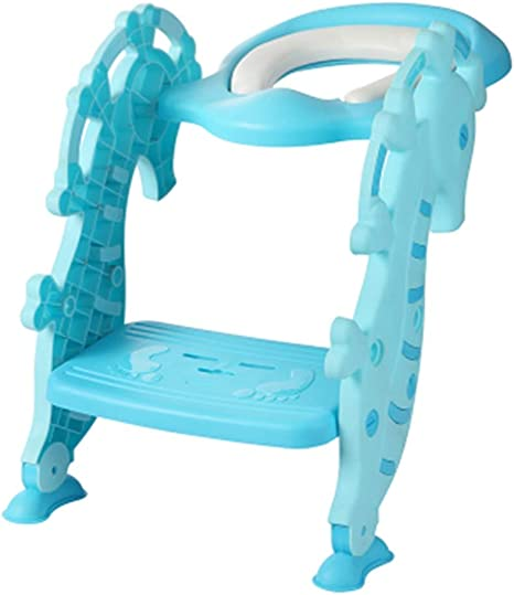 Bebé Escalera for niños Escalera for ir al baño Asiento de inodoro/Escalera plegable de entrenamiento for inodoro Ahorre espacio/empuñadura Estabilidad y confianza: Amazon.es: Bebé
