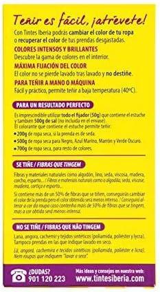 Iberia - Tinte Negro para ropa, 40°C