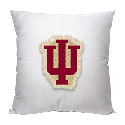 Northwest COL 142 NOR-1COL142000026RET 18 x 18 Indiana Hoosiers NCAA Team Letterman Pillow - Indiana Hoosiers Ncaa College Bedding