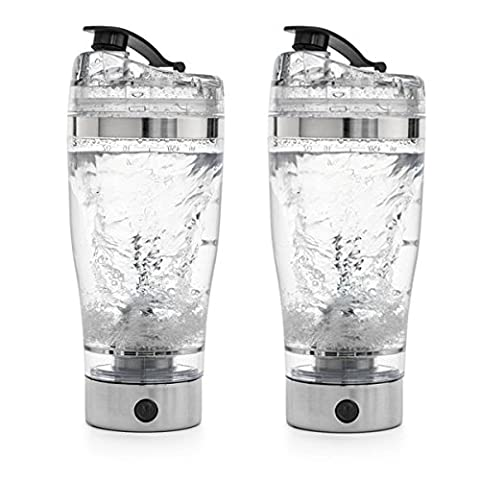 Electric Protein Shaker Cup w/ Detachable Electric Motor Mixer - 450ml - Hygienic & BPA Free - Moo Mixer