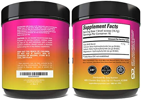 Keto BHB Citrus and Mango Powder - Fuels Performance -Exogenous Ketones (BHB) - Supports Ketosis, Metabolism, Improved Energy, and Mental Performance - 16 Servings 2